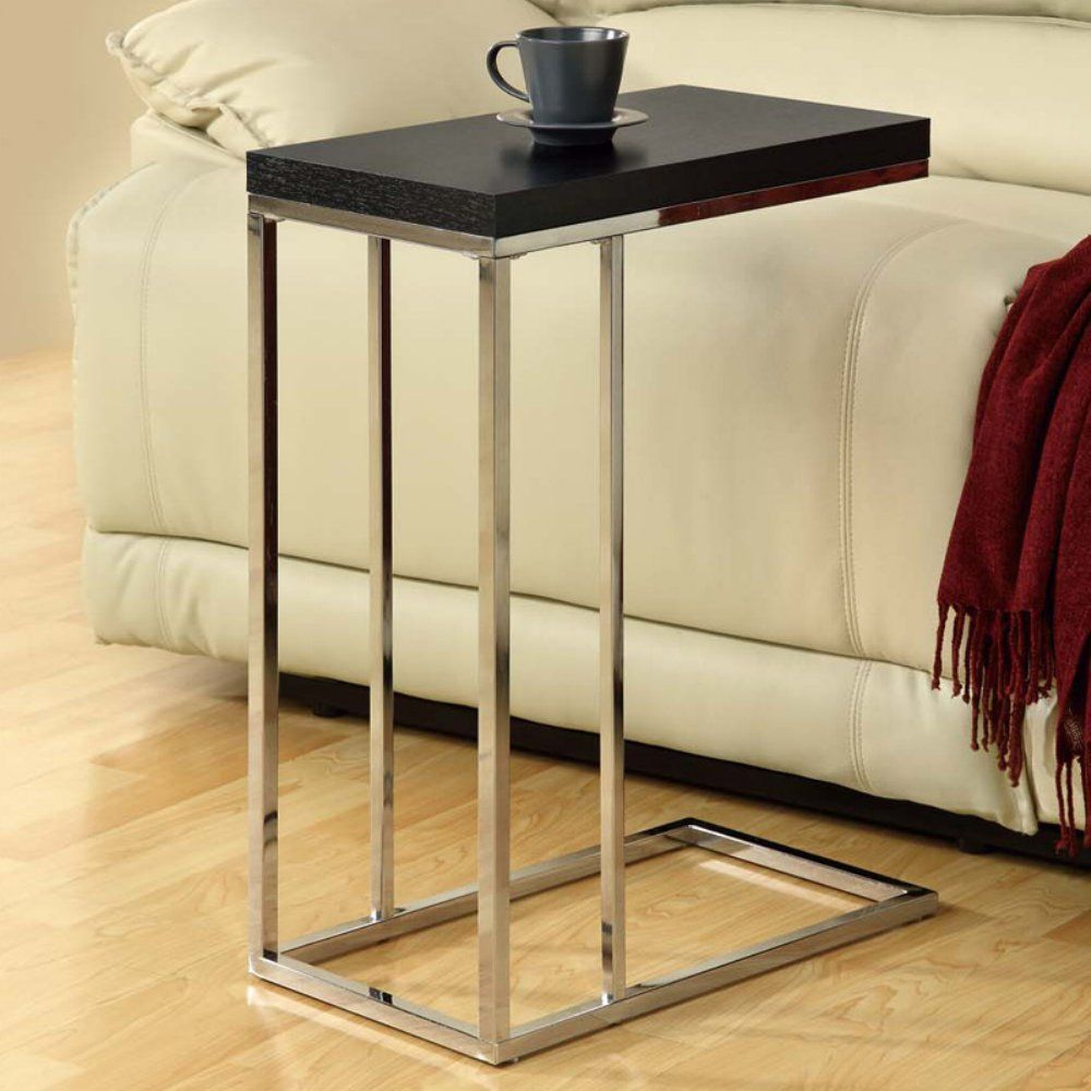 monarch rectangular chrome metal accent table cappuccino bentwood with tempered glass maximize space and made modern style dining area furniture round patio foyer console entryway