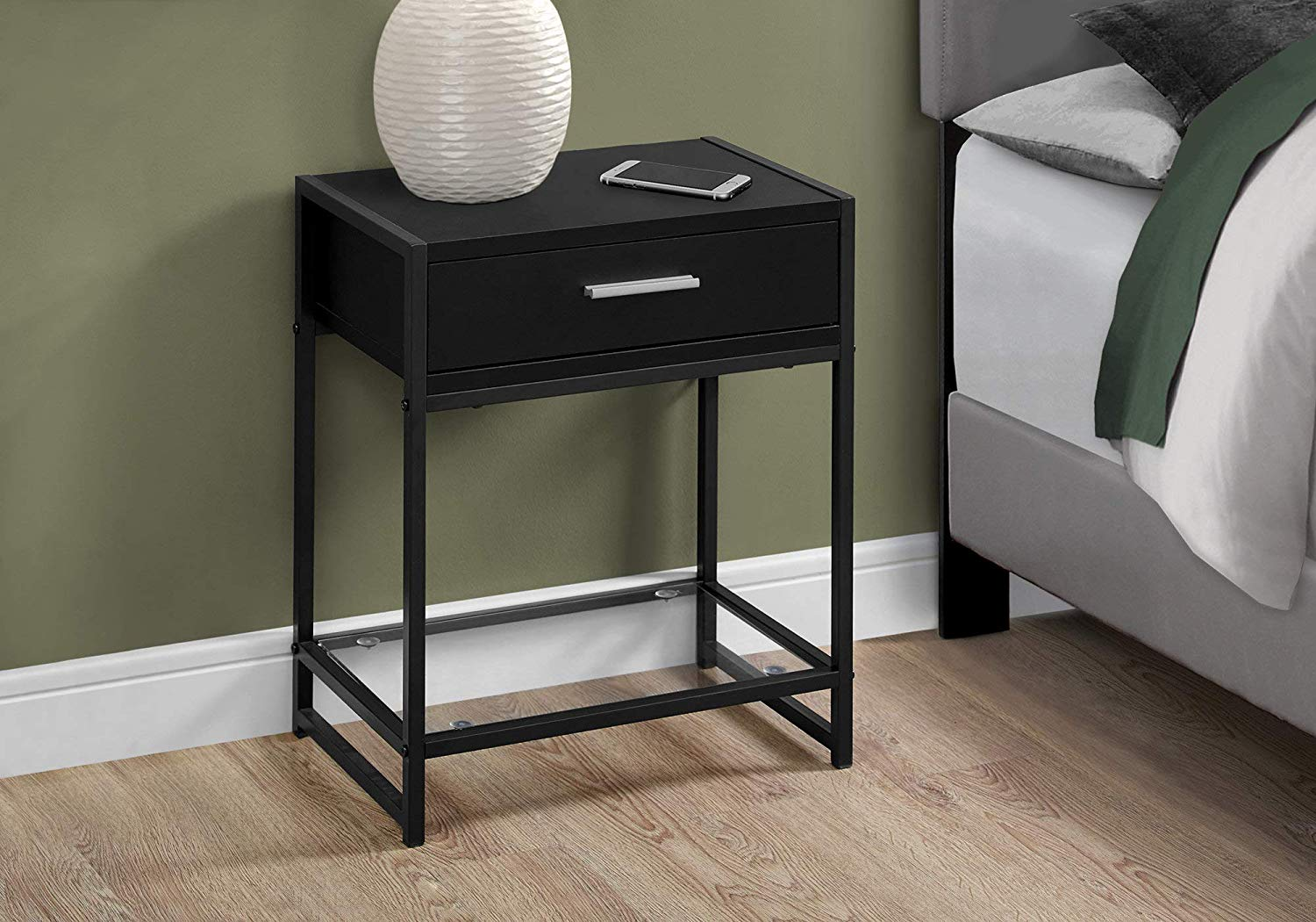 monarch specialties accent end table night room essentials stand black kitchen dining ikea coffee tables and side hampton bay wicker patio furniture small white garden half round