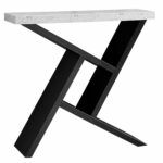 monarch specialties accent table black cement look hall console cappuccino best linens nautical dining round plastic covers room furniture pier one ott acrylic chest coffee 150x150