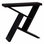 monarch specialties accent table black cement look hall console cappuccino counter height round pub dining room chairs small pedestal cabinet legs door treads wooden knobs cover 150x150