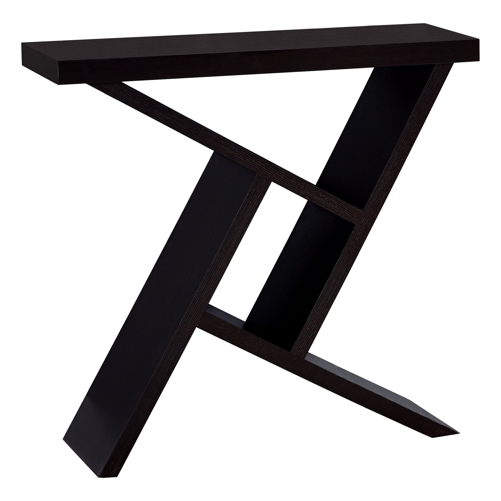 monarch specialties accent table black cement look hall console cappuccino counter height round pub dining room chairs small pedestal cabinet legs door treads wooden knobs cover