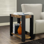 monarch specialties accent table black distressed reclaimed look top prod brown linen tablecloth mini furniture large trestle strip between carpet and tile inch round patio 150x150