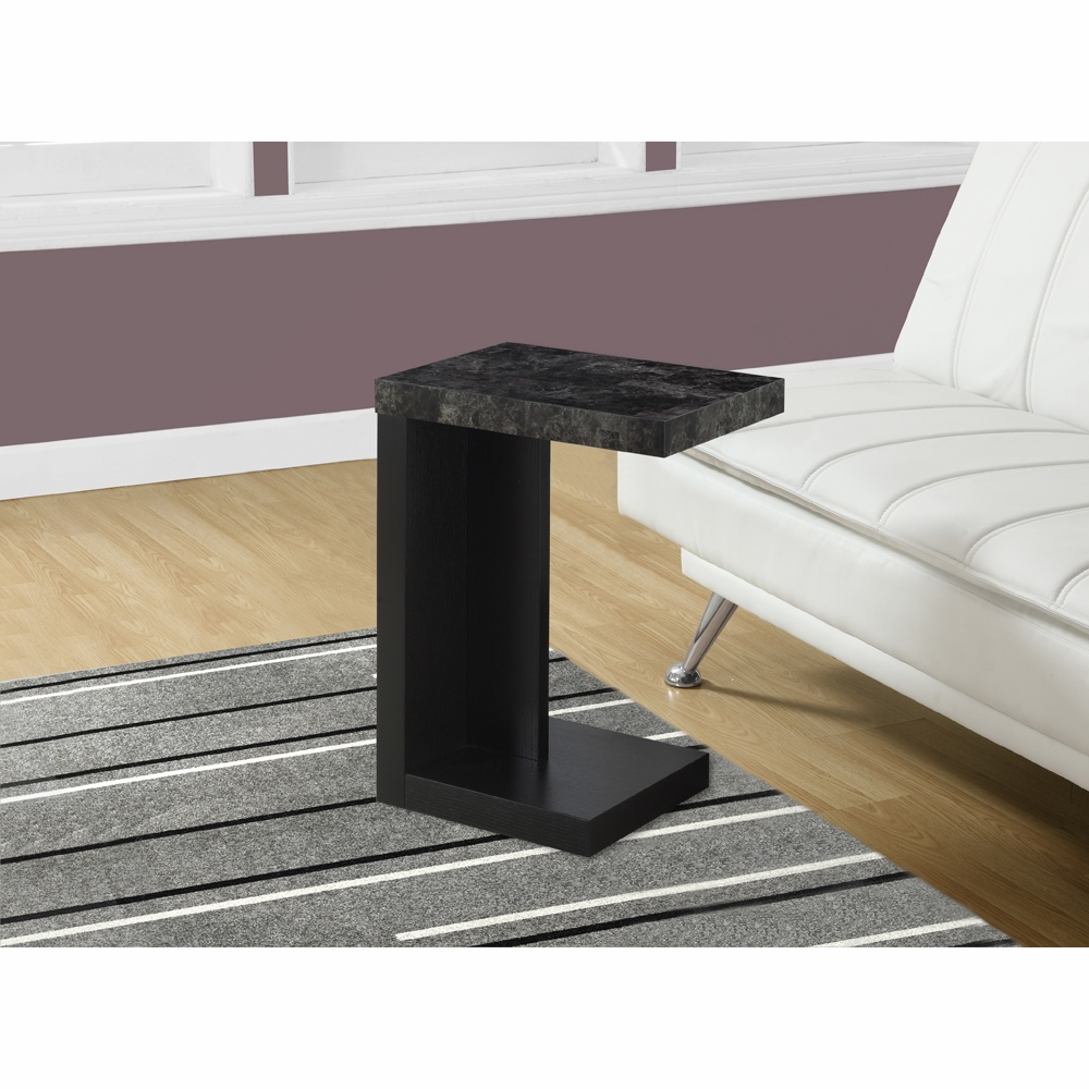 monarch specialties accent table black grey marble look top hover zoom granite coffee and end tables large corner gear lamp outdoor furniture couch normande lighting led desk bar