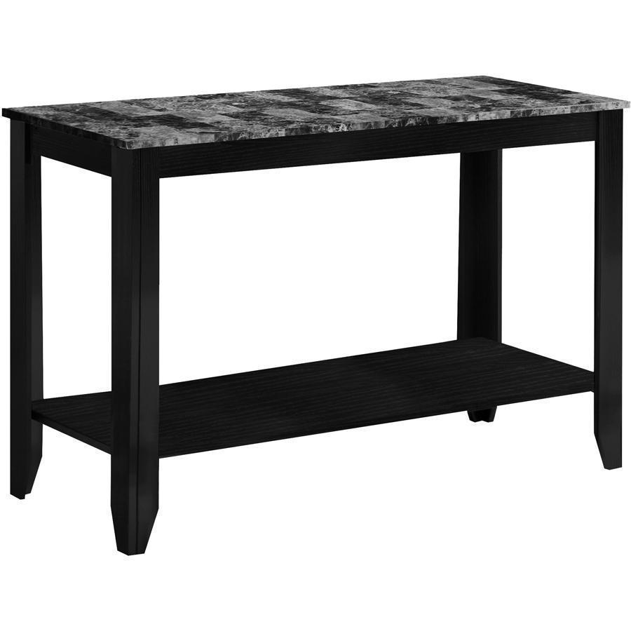 monarch specialties accent table black grey marble top chair design classics gear lamp plastic cloth dining set counter height with bench small decorative chest drawers white and