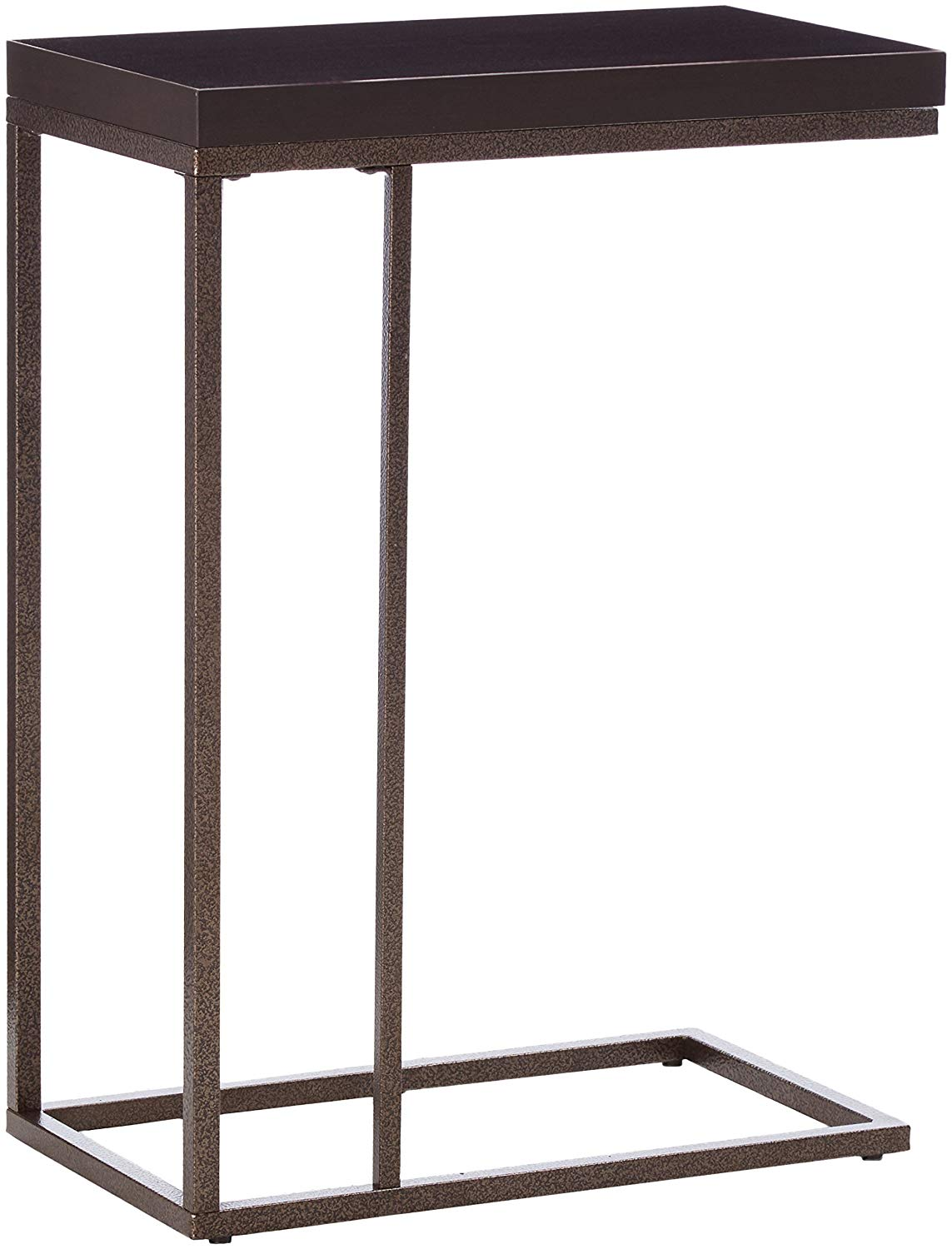 monarch specialties accent table bronze metal top side cappuccino marble kitchen dining country style furniture gold glitter tablecloth sofa with wine rack cherry wood bedroom