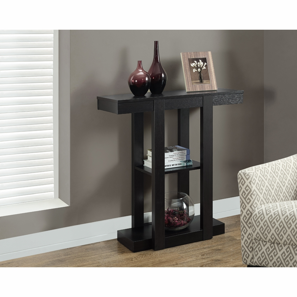 monarch specialties accent table cappuccino hall console hover zoom square mirrored coffee lamps with usb cherry wood dinner wooden stand top standing wine rack small entry white