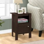 monarch specialties accent table cappuccino night eugene white winsome stand with storage kitchen dining simple console small narrow side decorative drawers ashley furniture 150x150