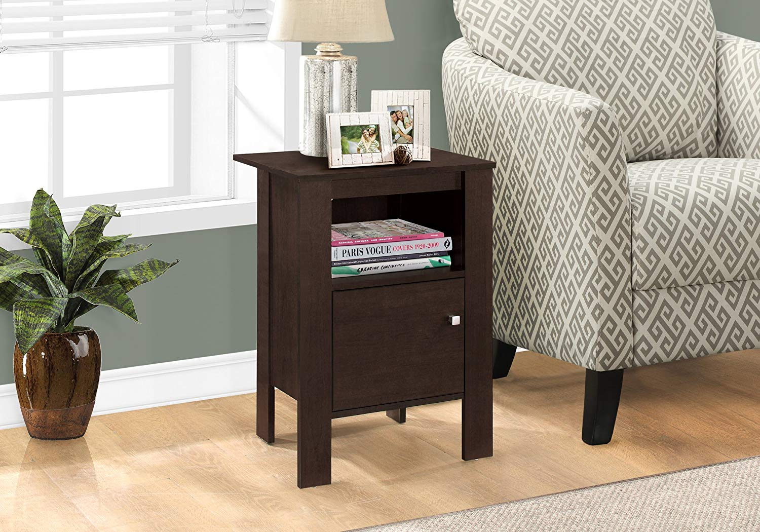 monarch specialties accent table cappuccino night eugene white winsome stand with storage kitchen dining simple console small narrow side decorative drawers ashley furniture
