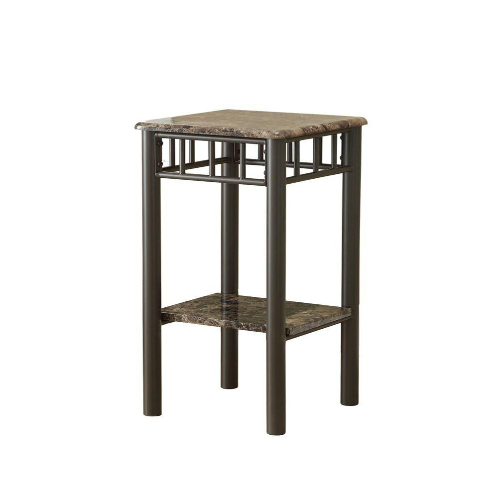 monarch specialties accent table cherry charcoal black metal cappuccino marble bronze affordable chairs grey trestle waterproof patio chair covers tables round wood and side pier