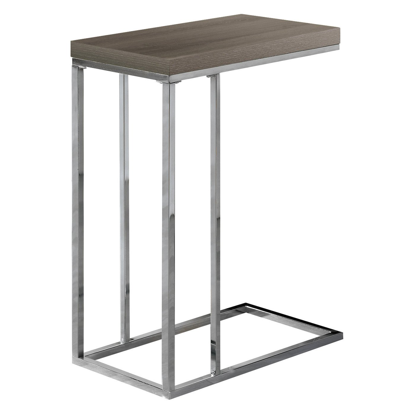 monarch specialties accent table chrome metal dark taupe kitchen dining small outdoor patio furniture slim glass side house interior ideas sears best desk lamp foyer bathroom