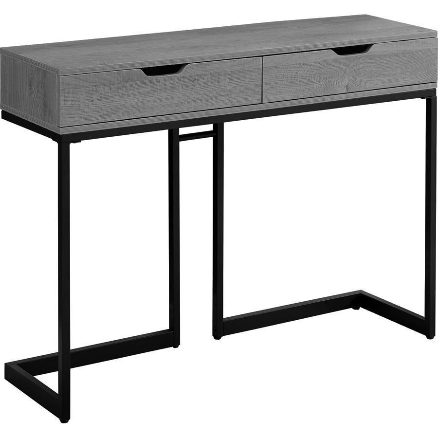monarch specialties accent table grey black metal hall console normande lighting led desk lamp made coffee elm flooring small decorative chest drawers wooden with polished