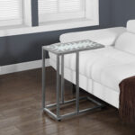 monarch specialties accent table grey blue tile top hammered prod silver small wooden with drawers retro coffee pier one imports locations plastic cloth chaise lounge end tables 150x150