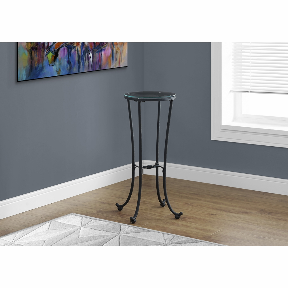 monarch specialties accent table hammered black metal with tempered glass hover zoom high bar kitchen linen and tablecloth leick corner dining room chair sets wood end tables grey