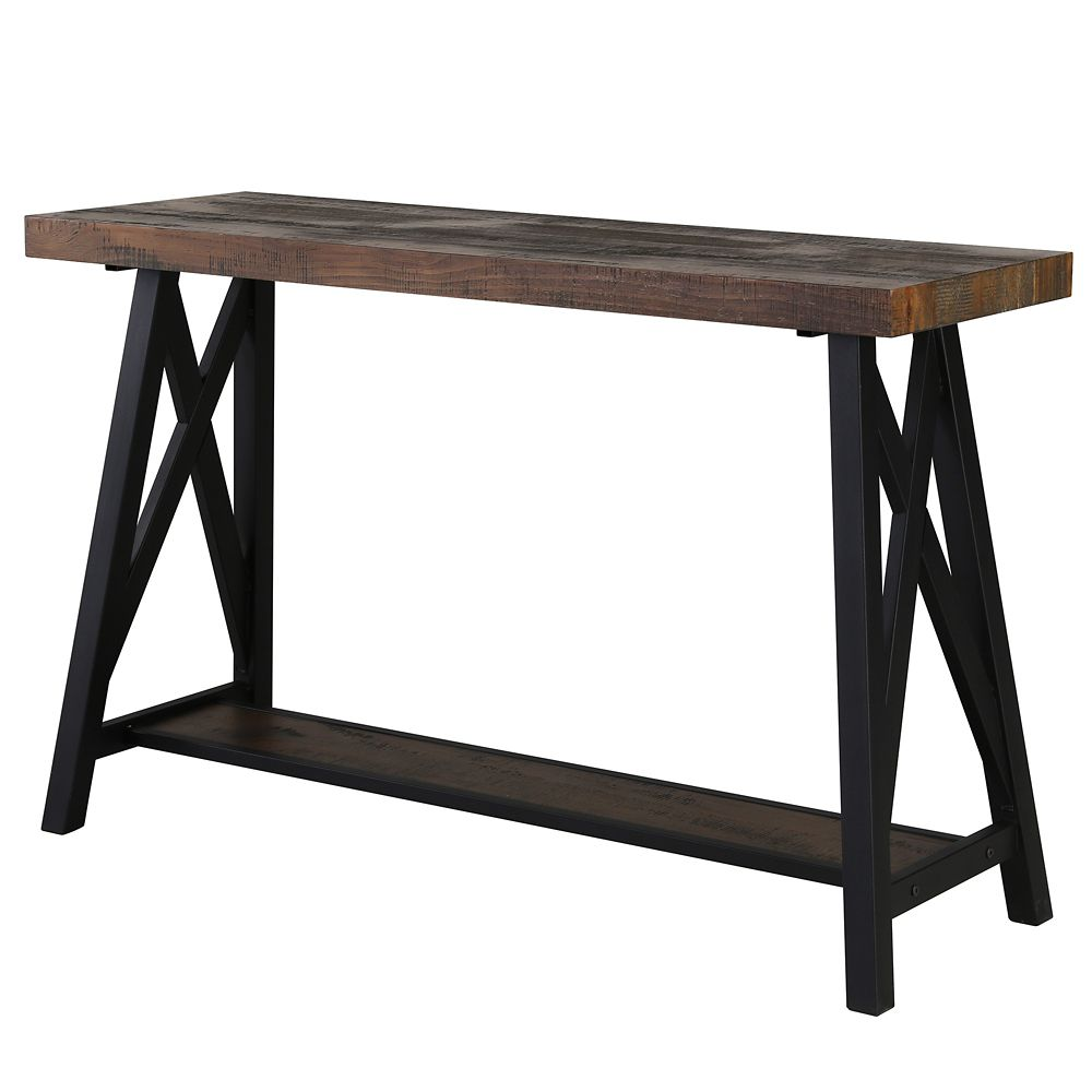 monarch specialties accent table inch dark taupe hall console nspire langport rustic oak farmhouse style end tables round hairpin coffee pottery barn trestle free fall runner