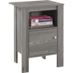 monarch specialties accent table night stand storage grey large corner outdoor furniture couch clear marble top coffee small decorative chest drawers chaise lounge elm flooring 150x150