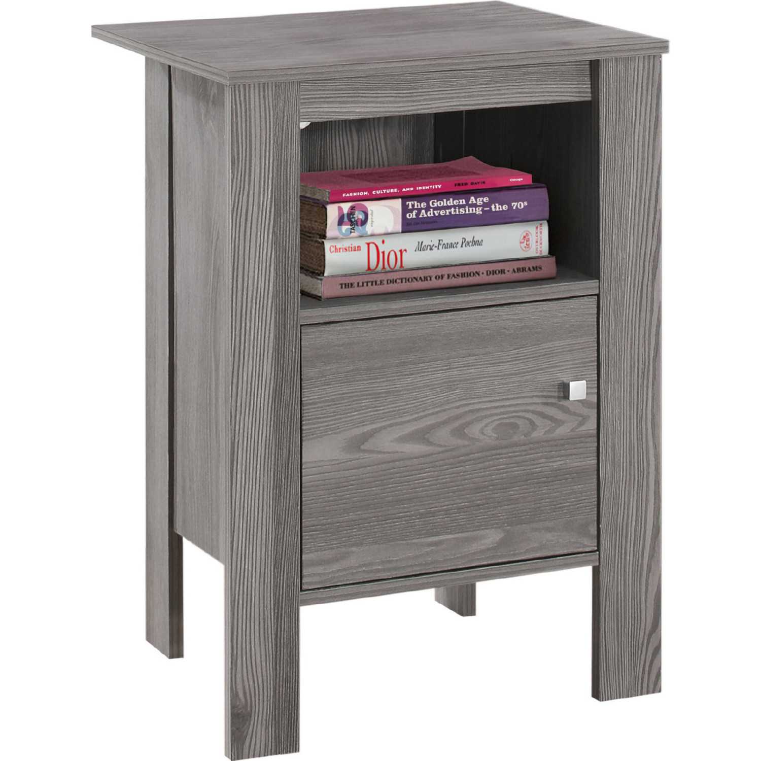 monarch specialties accent table night stand storage grey large corner outdoor furniture couch clear marble top coffee small decorative chest drawers chaise lounge elm flooring