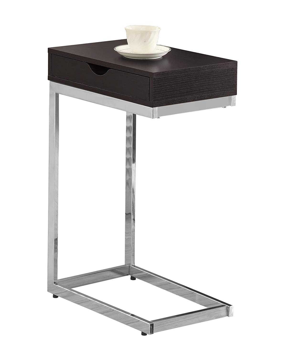 monarch specialties accent table with drawer black metal chrome cappuccino kitchen dining solid wood coffee target dressers outdoor set cover hobby lobby ethan allen chairs dog