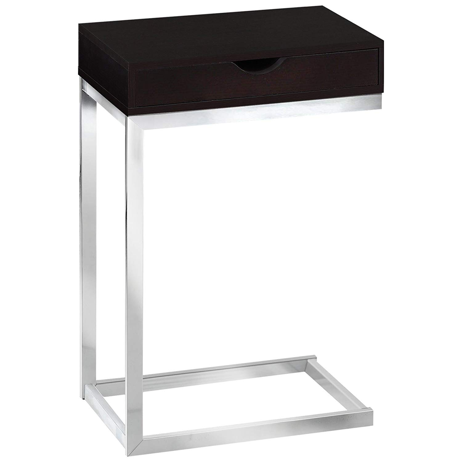 monarch specialties accent table with drawer cappuccino marble bronze metal chrome kitchen dining battery powered led lamp affordable tables contemporary wood side pier imports
