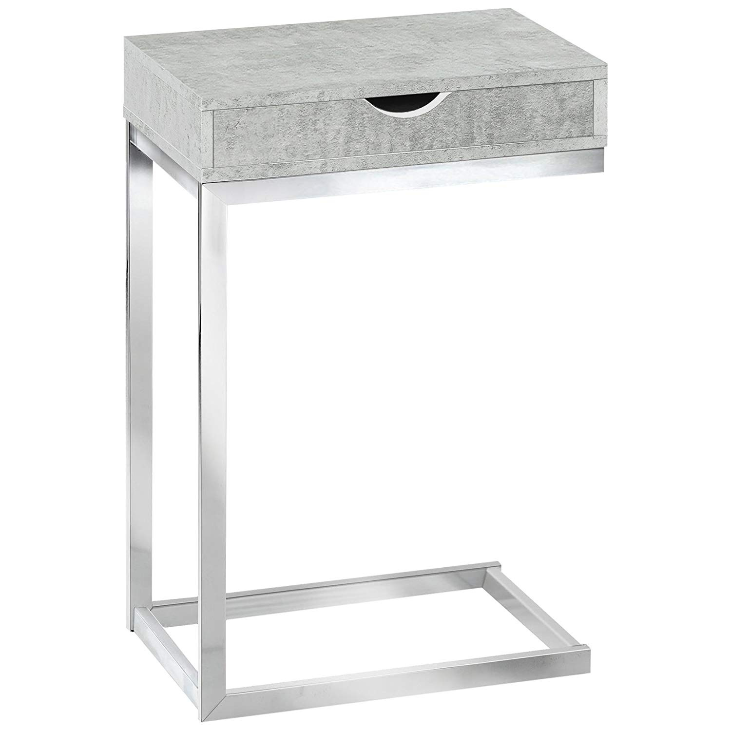 monarch specialties accent table with drawer grey chrome metal dark cement kitchen dining chair covers target small wooden drawers vintage retro furniture counter height bench