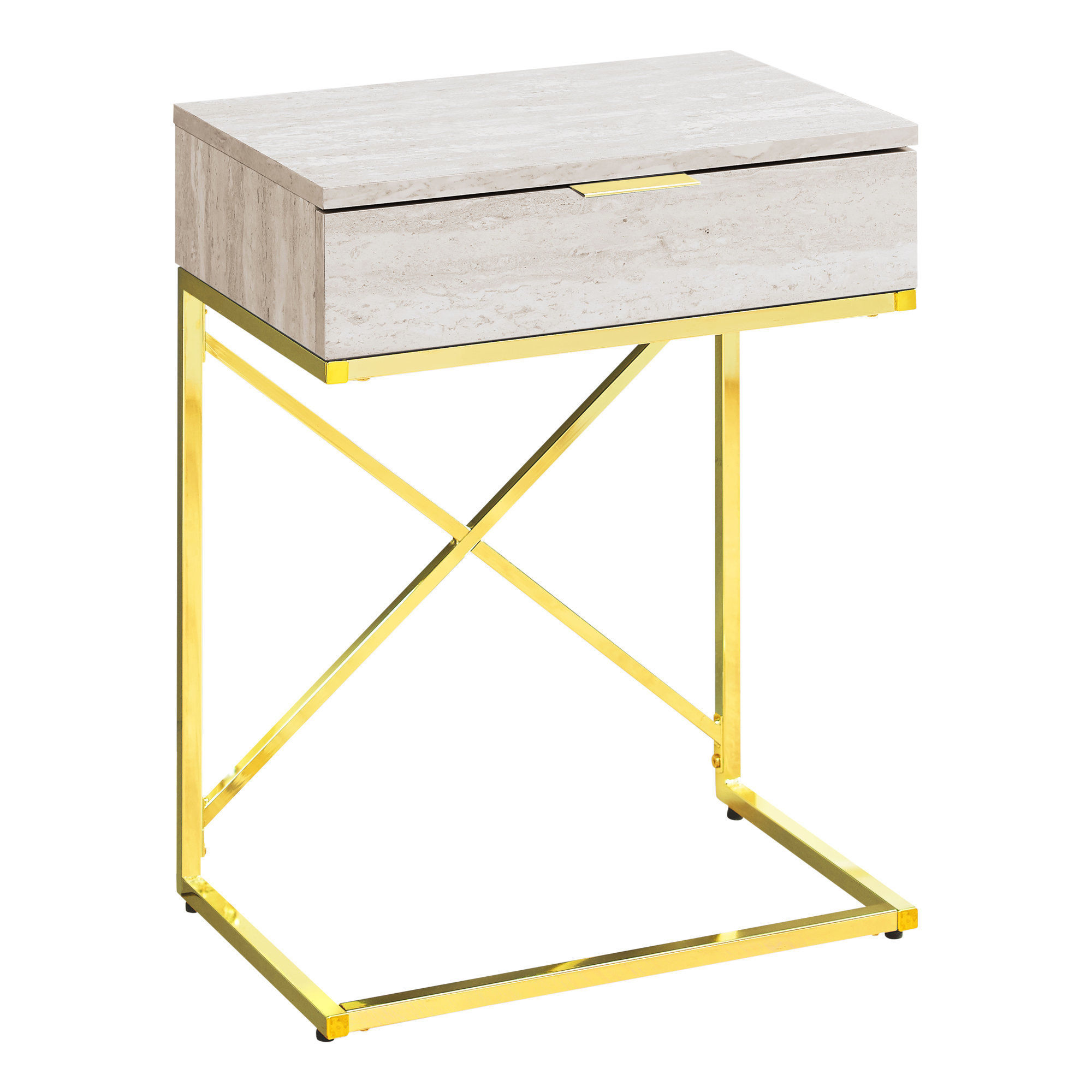 monarch specialties beige gold metal inch accent table the mnc click enlarge kmart marble skinny wine rack vintage wood side corner target threshold cabinet brass and glass coffee