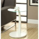 monarch specialties bentwood white glass top end table the tables round accent metal outdoor side wooden lamp wireless lamps living room interior design marble modern contemporary 150x150