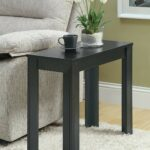 monarch specialties black oak accent side table kitchen finish end tables dining island legs unfinished floor lamp height high small lamps living room center decor round glass top 150x150