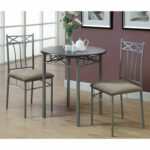 monarch specialties bronze metal and cappuccino marble bistro accent table dining set piece ashley furniture living room glass bedside drawers white childrens desk fern stand 150x150