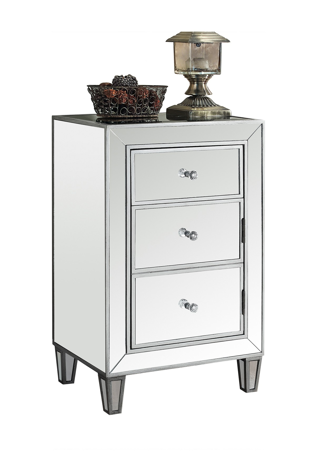 monarch specialties brushed silver mirrored accent table real marble coffee cream bedside drawers cast aluminum patio side dining set clear end wood trestle bases for granite tops