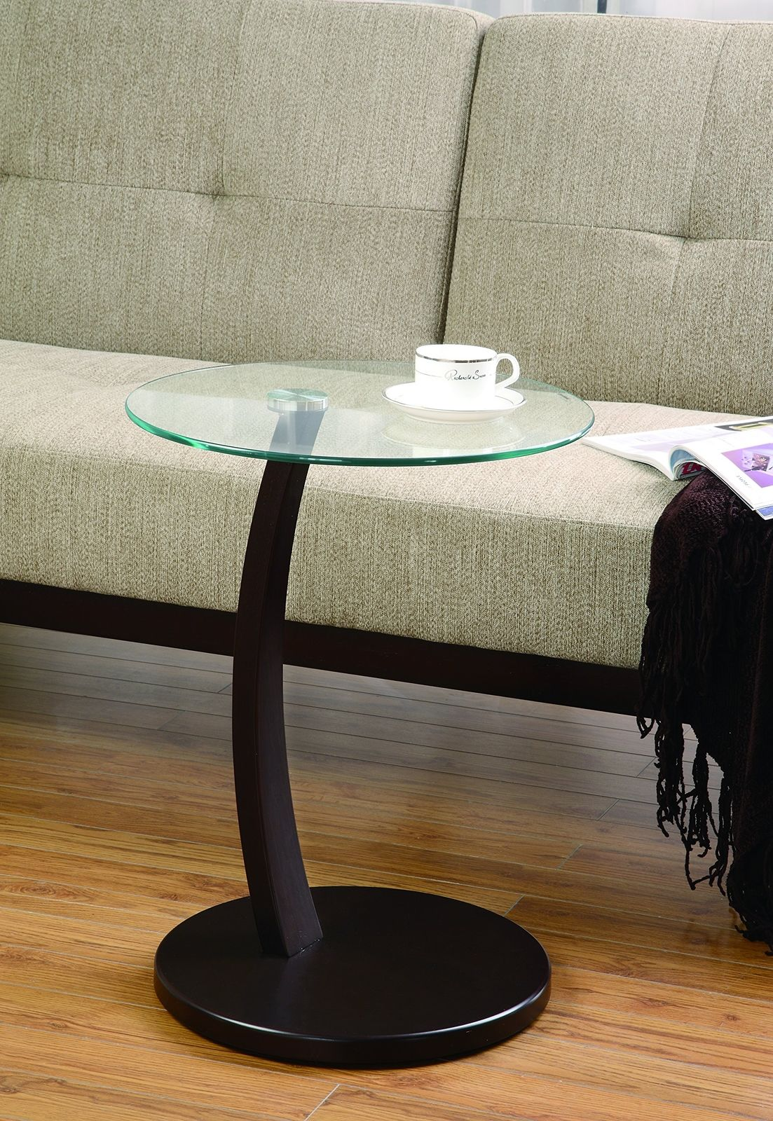 monarch specialties cappuccino bentwood accent table with tempered glass stock ashley furniture sectional couch deck cover moroccan tile black outdoor side marble and wood coffee