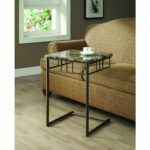 monarch specialties cappuccino end table marble look top accent side glass nesting coffee tables small outdoor furniture set hourglass narrow hallway umbrella foyer with storage 150x150