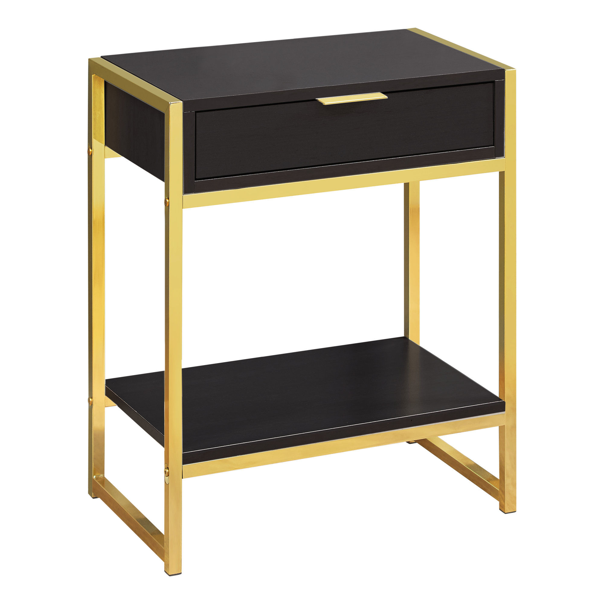 monarch specialties cappuccino gold metal drawer accent table the mnc with tables bronze ornate side unique end beach bedroom decor skirting patio coffee storage furniture covers