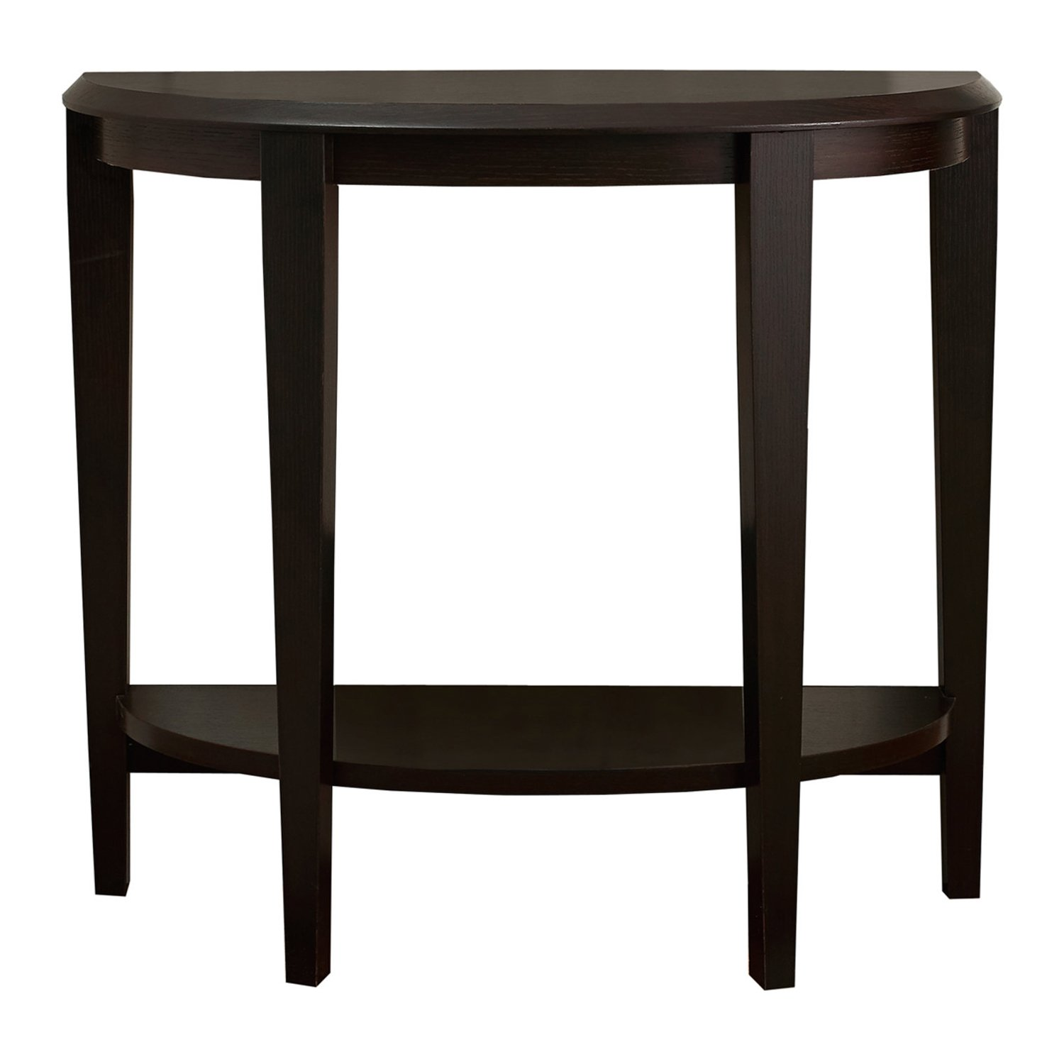 monarch specialties cappuccino hall console accent table inch kitchen dining cabinet legs black piece set counter height round pub tall with doors yellow dragonfly tiffany style