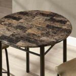 monarch specialties cappuccino marble bronze metal piece bistro close accent table set small round wood end coupons chaise lounge side globe light fixture used office furniture 150x150
