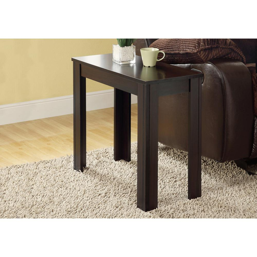 monarch specialties cappuccino side table the end tables accent grey small chest ott sofa high back dining chairs counter height with bench floor threshold transitions made coffee