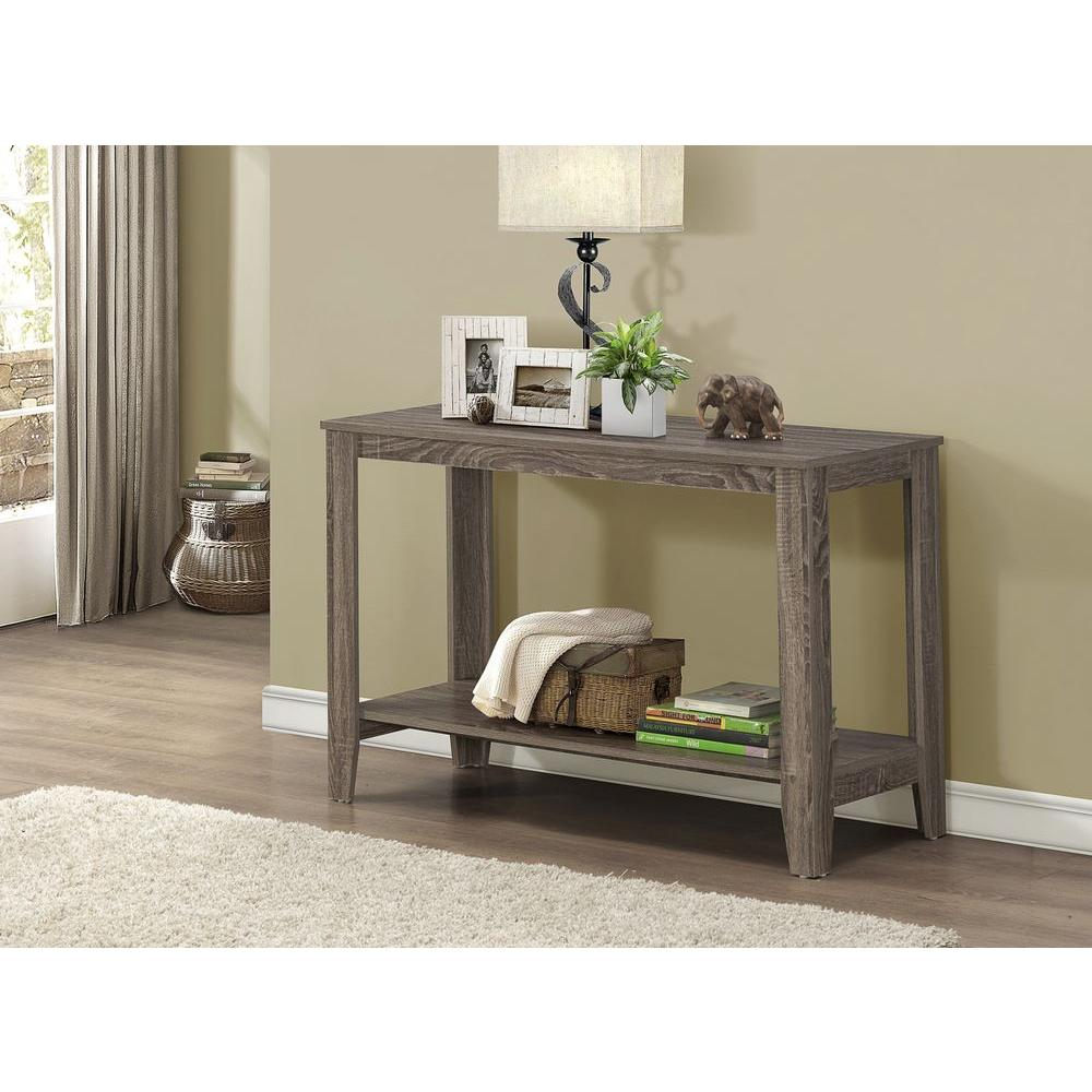 monarch specialties dark taupe console table the tables accent sofa coastal beach lamps next side ikea desk media room chairs glass bedside lights small round patio pier imports