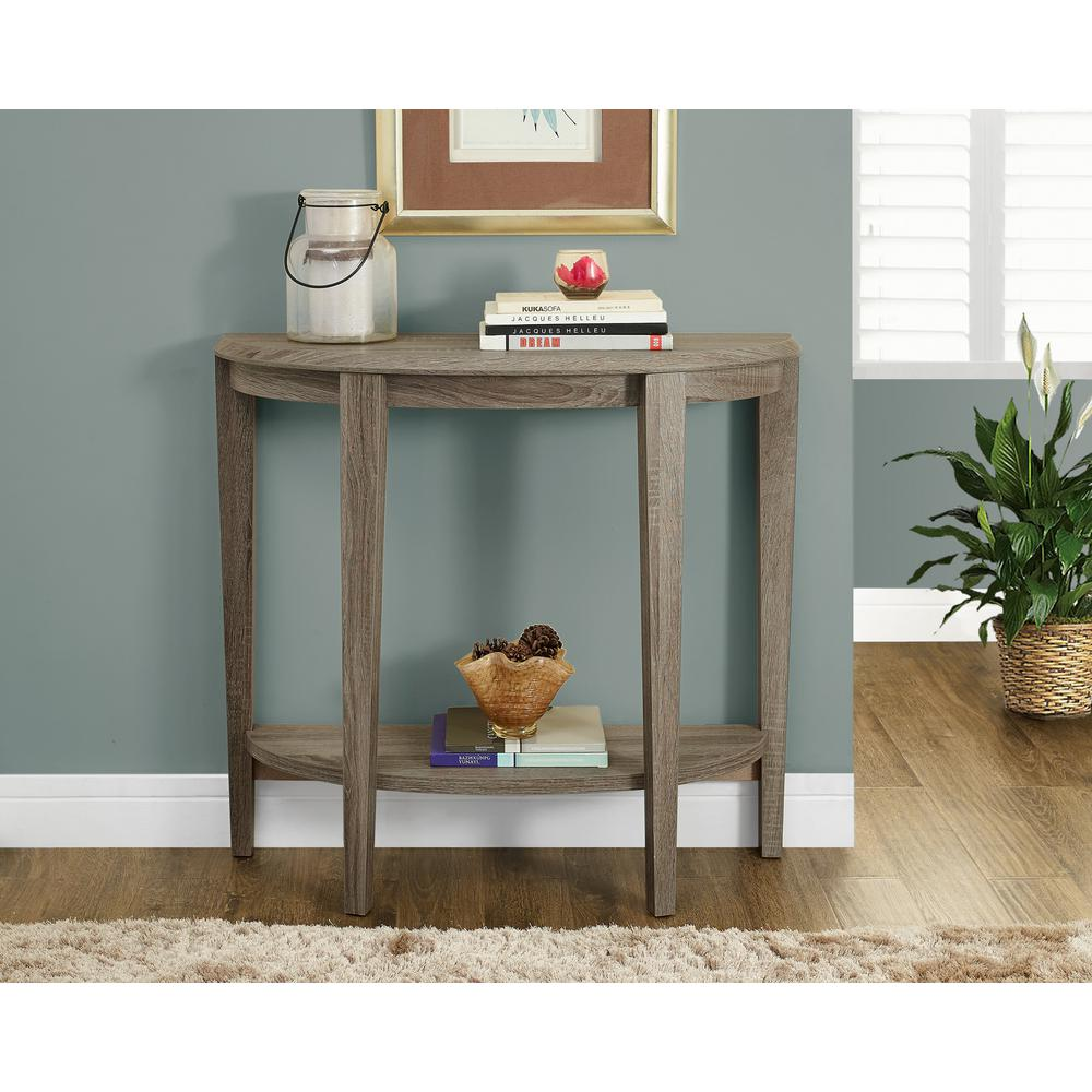 monarch specialties dark taupe console table the tables hall accent black wrought iron chinese lamp mahogany bedside pottery barn trestle marble coffee farmhouse style end plant