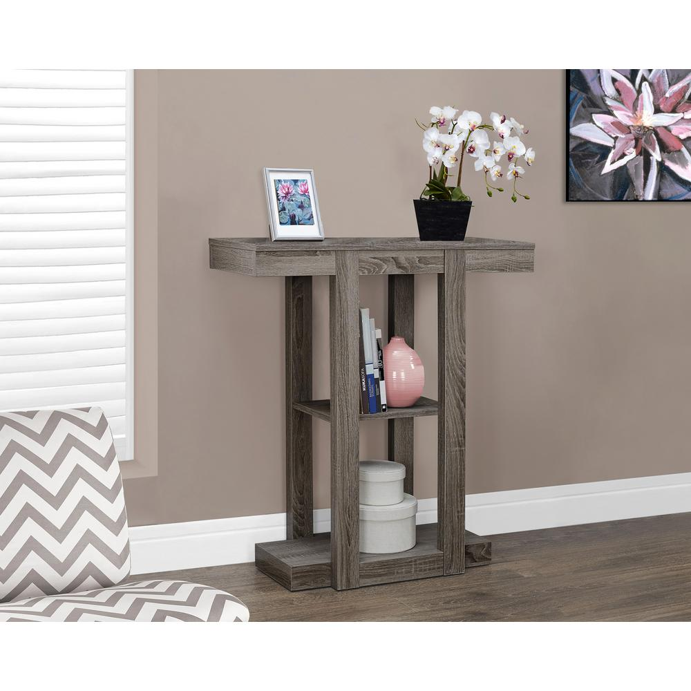 monarch specialties dark taupe console table the tables white hall accent galvanized metal side ikea slim carpet edge strip tops under free quilted runner patterns replica