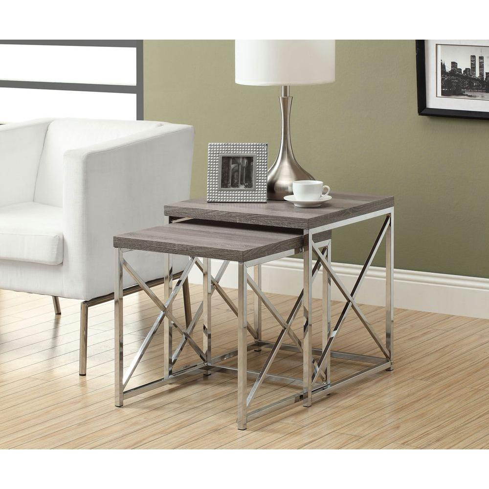 monarch specialties dark taupe piece nesting end table tables accent snack ikea black dining room free patterns for quilted runners and toppers essentials desk small kitchen lamp