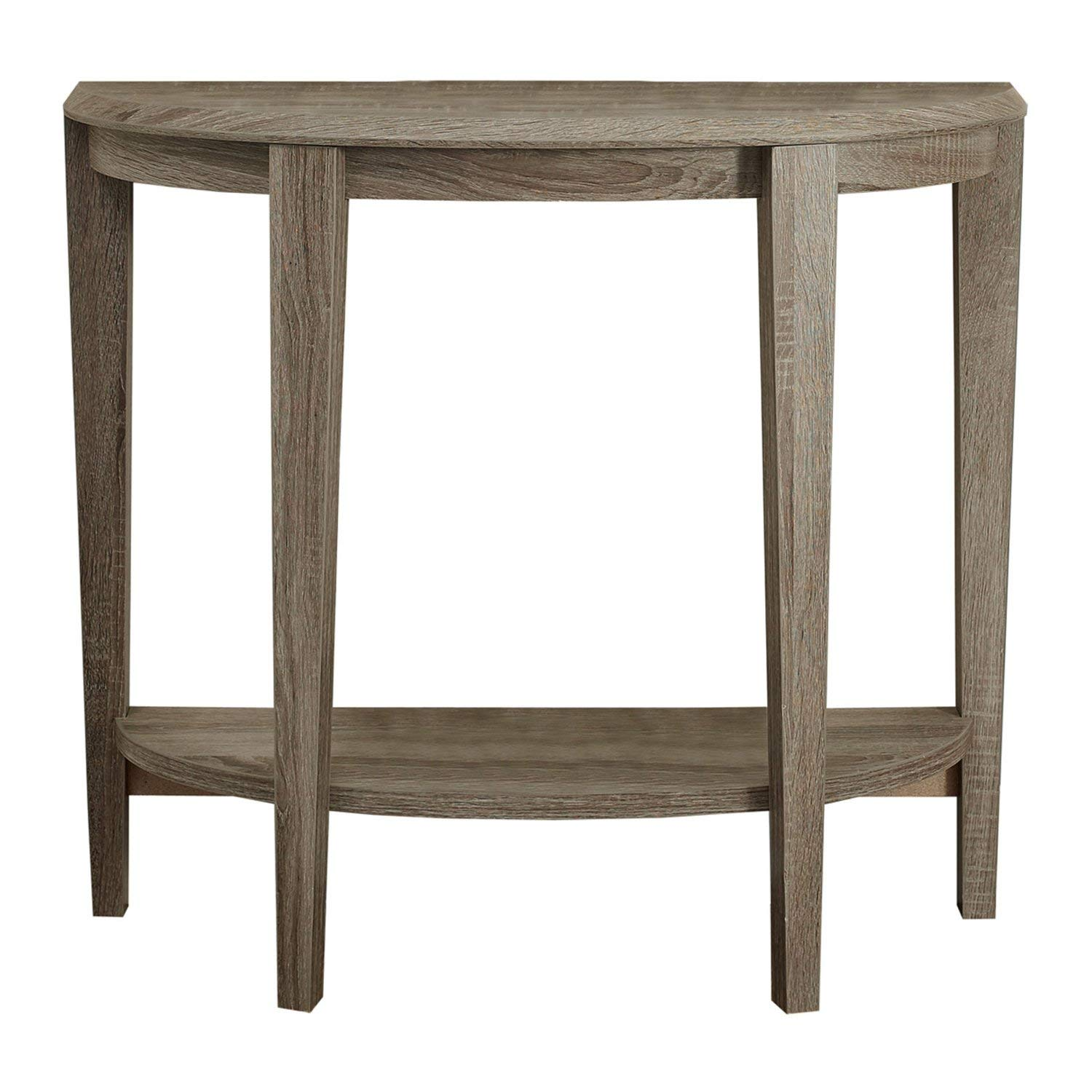 monarch specialties dark taupe reclaimed look console top accent side table cappuccino marble inch kitchen dining coffee cherry wood bedroom furniture large round cover decorative