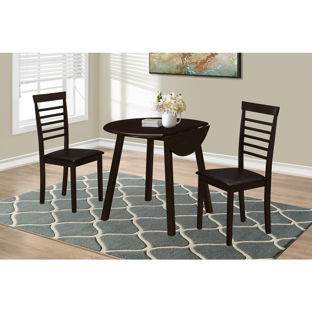 monarch specialties dining set cappuccino drop leaf table accent marble bronze metal hover zoom battery operated end lamps ikea tops home decor sites leick furniture trends mosaic