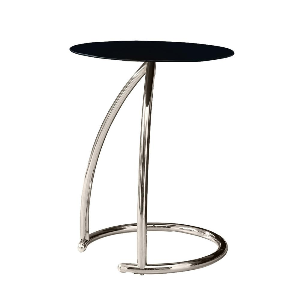 monarch specialties frosted glass and chrome top end table black tempered metal finish tables bentwood accent with this review from umbrella side lamps set bedroom lamp sets small