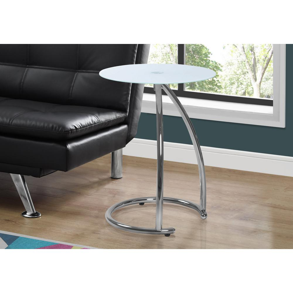 monarch specialties frosted glass and chrome top end table tempered metal finish tables bentwood accent with lamps set navy coffee yellow sofa large numeral clock umbrella side