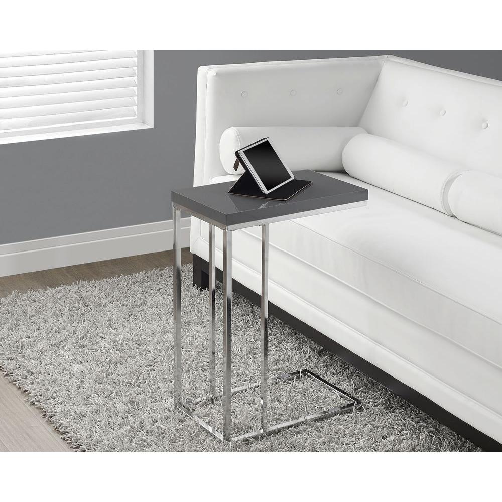 monarch specialties glossy grey end table the tables accent large marble top coffee pier one imports locations vintage retro furniture white and bedside normande lighting led desk