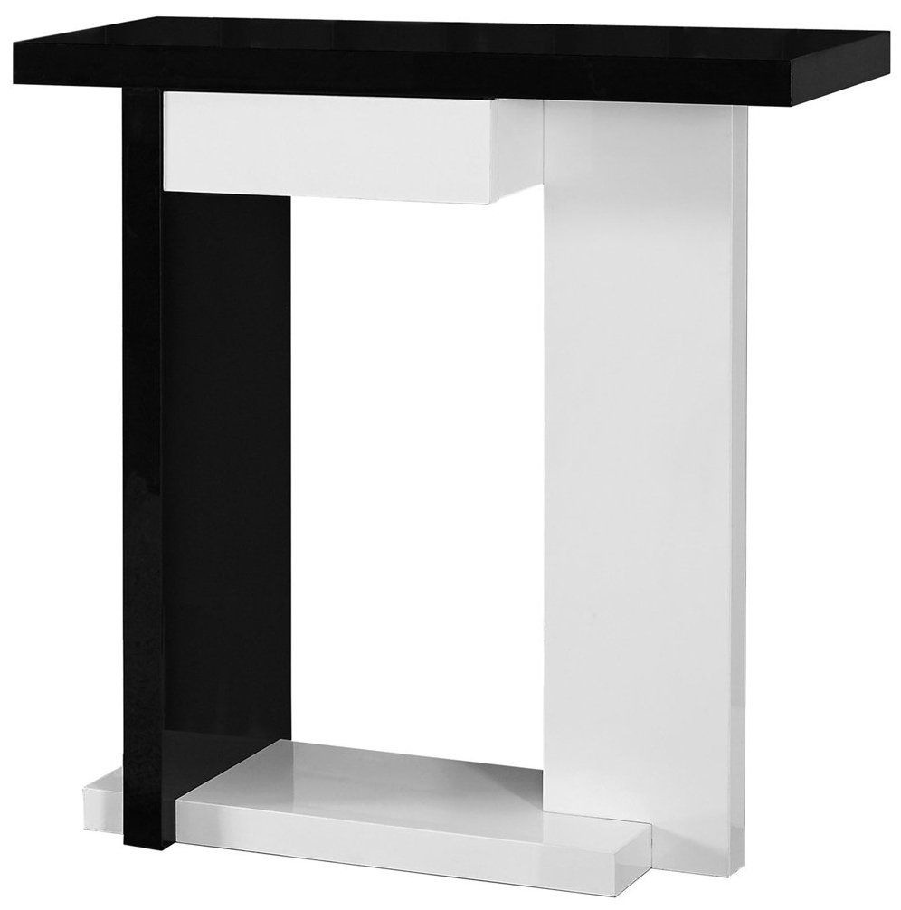monarch specialties glossy white black hall console accent table inch antique rectangular dining outdoor lounge chairs clearance buffet lamps grill replica scandinavian furniture