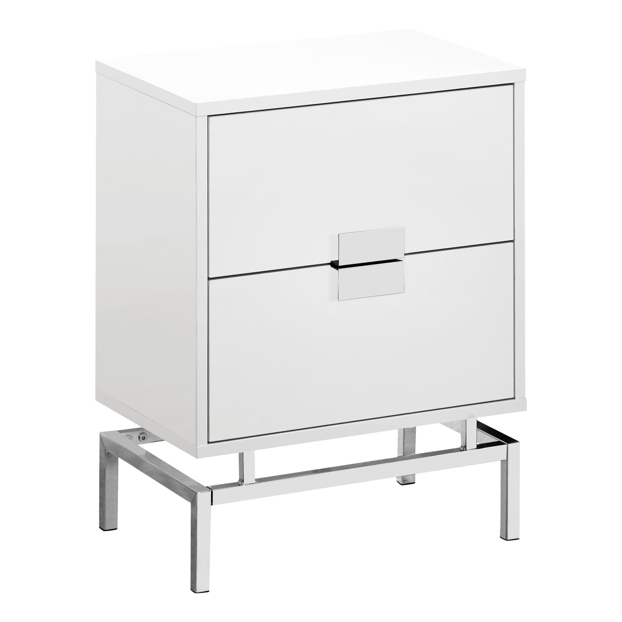monarch specialties glossy white modern accent table the classy home mnc with drawers pottery barn round chair concrete dining and chairs large marble bedroom bench target real