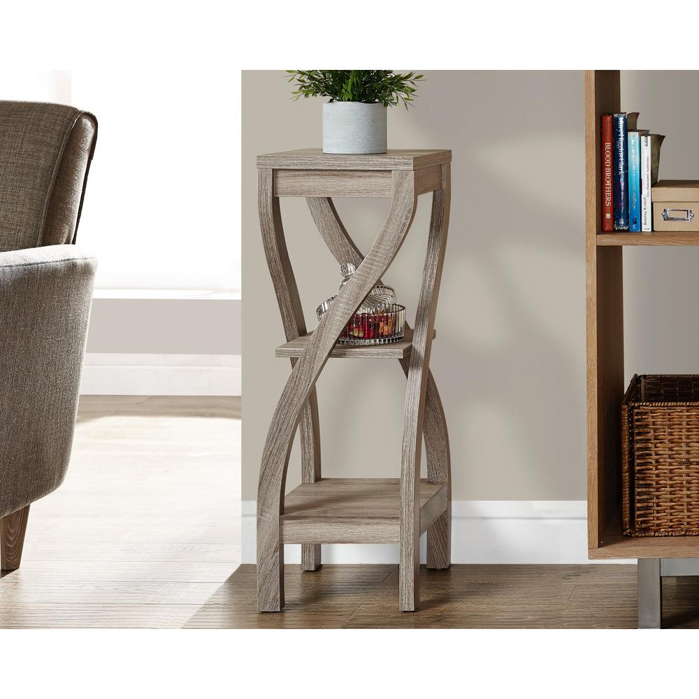 monarch specialties gray accent tables living room furniture dark taupe indoor plant stands table stand ceramic small decorative side teton village slim console ikea hampton bay