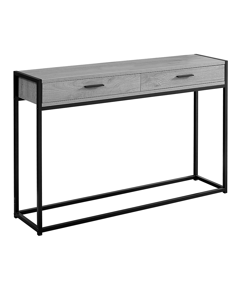 monarch specialties gray black accent table zulily main tall with drawer share acrylic coffee ikea antique couch garden umbrella bunnings commercial contemporary lamps for bedroom