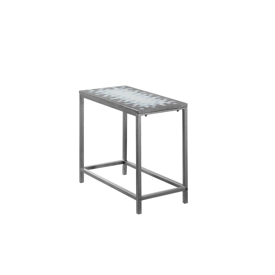 monarch specialties grey and blue tile top hammered silver accent table ture furniture large marble coffee best cantilever umbrella high back dining chairs granite end tables