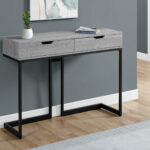 monarch specialties grey black metal hall console accent table pier end tables chair design classics home goods bistro and chairs floor threshold transitions marble top dining set 150x150