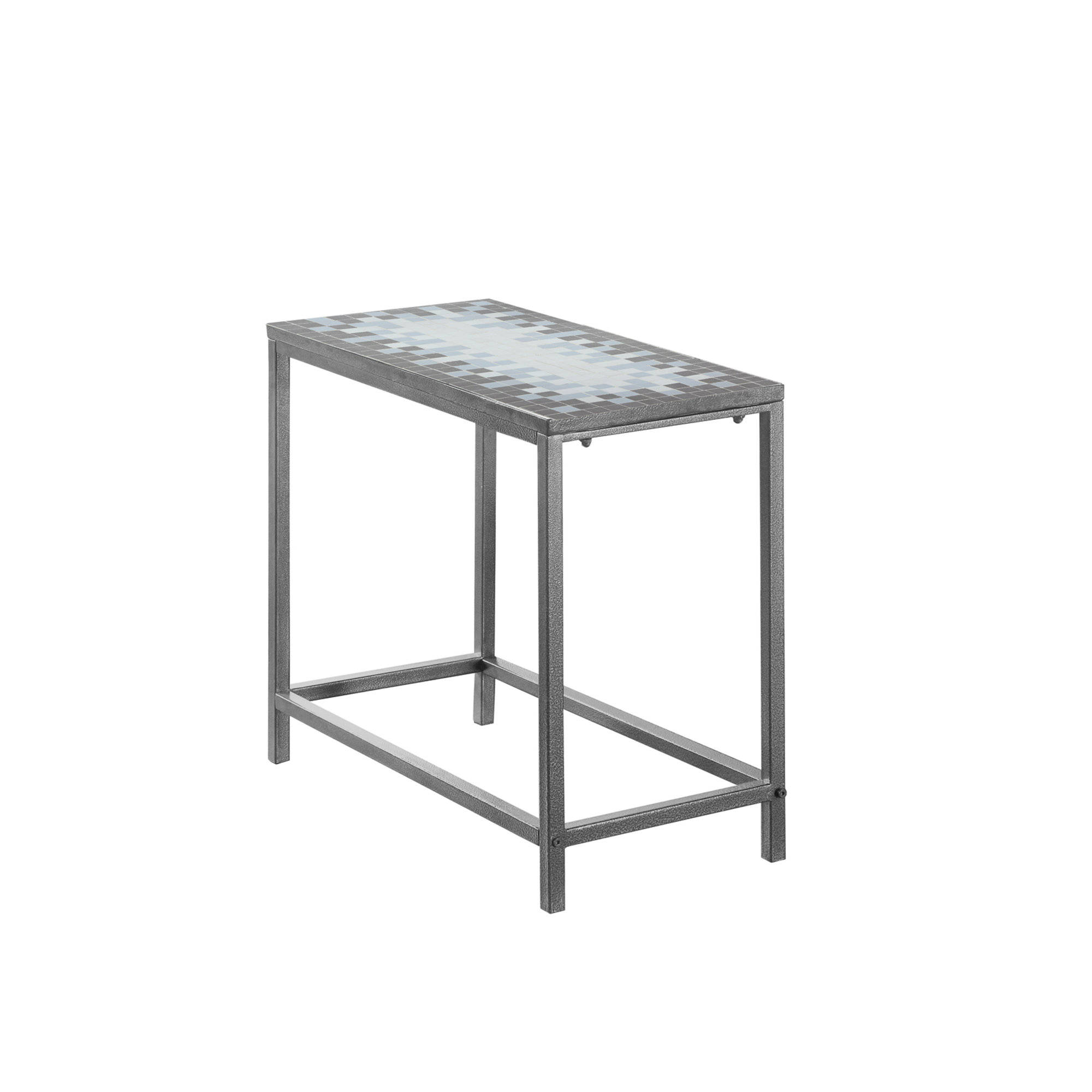 monarch specialties grey blue metal tile accent end table the mnc click enlarge perspex bedside french farmhouse modern brass lamp homepop coffee and side furniture home decor
